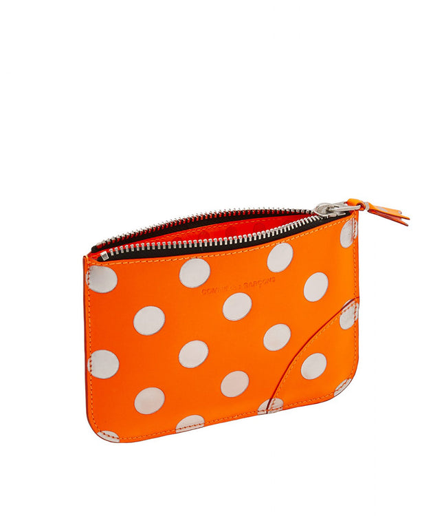 Orange Polka Dot Pouch