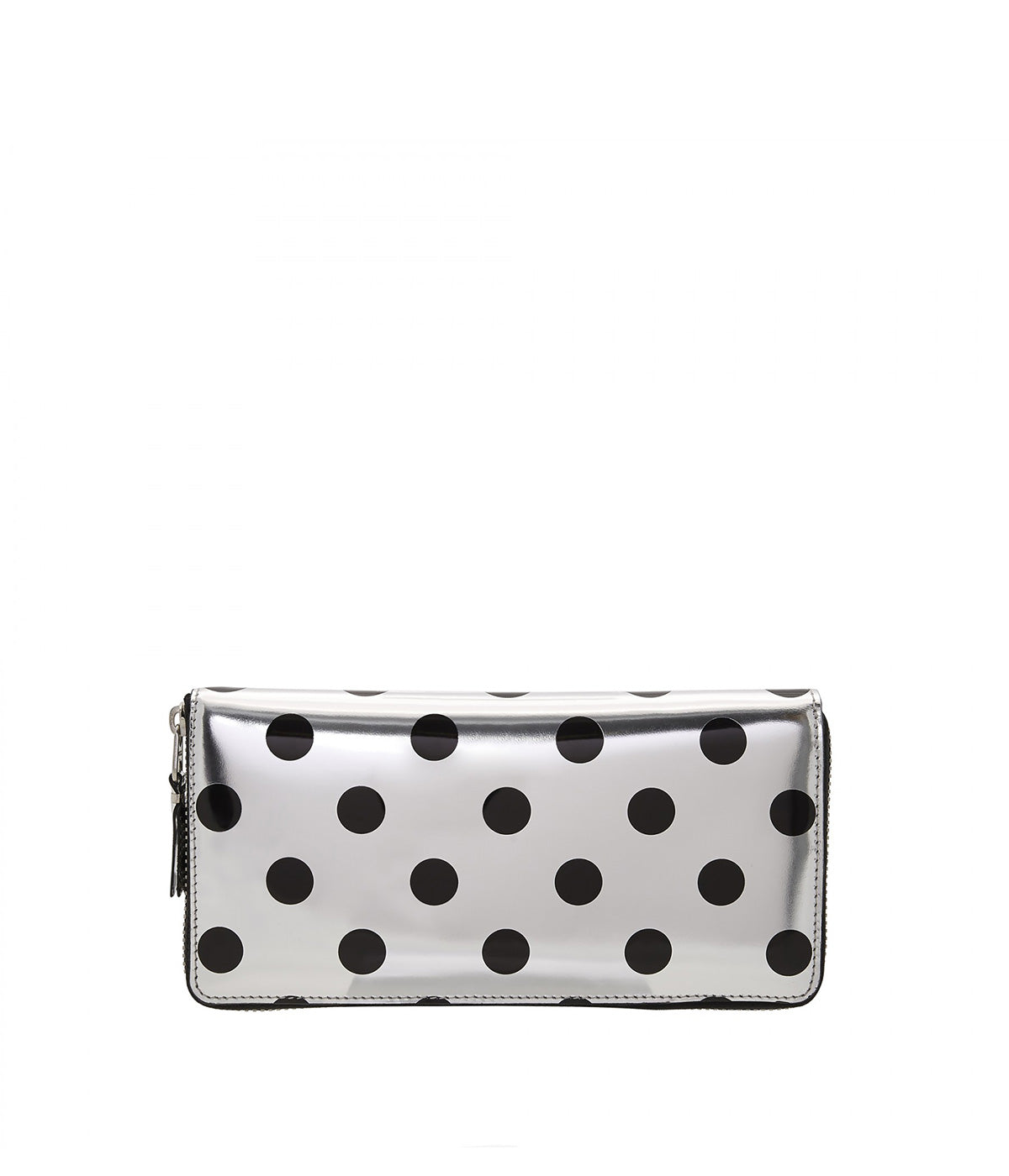 Silver Polka Dot Long Wallet