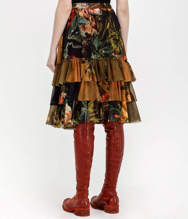 Multicoloured Sheer Arcimboldo Skirt