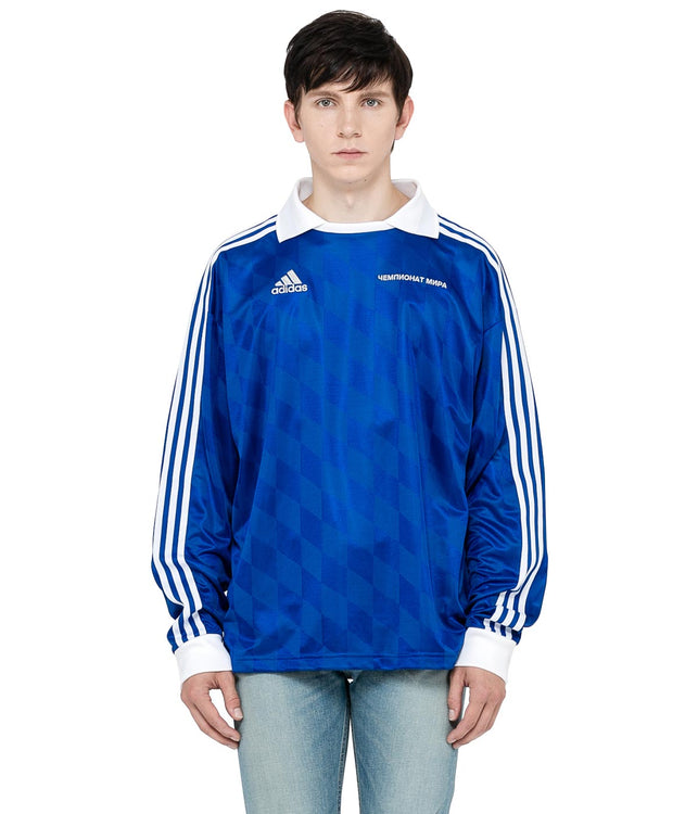 x adidas Blue Long Sleeve Jersey