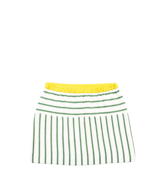 White Striped Skirt