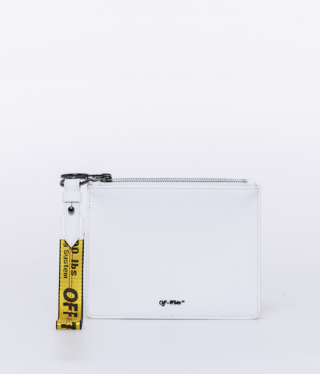 White Diag Double Pouch
