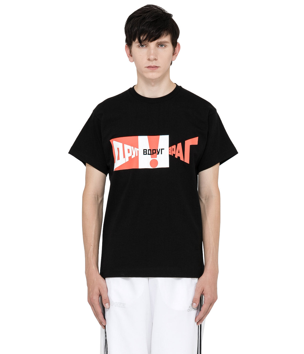 Black Mixed Graphic T-Shirt