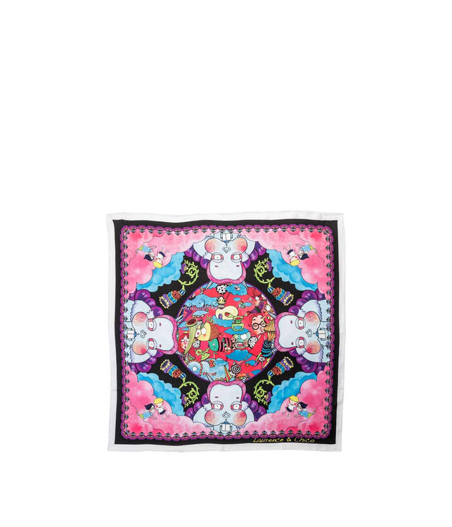 Pink Small Graphic Scarf