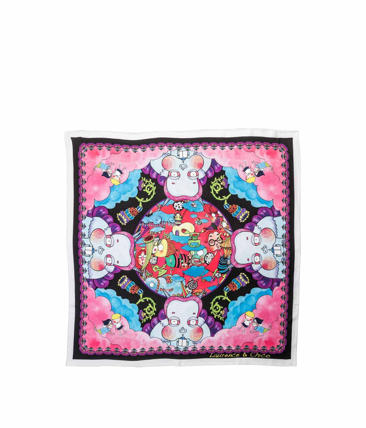 Pink Large Graphic Scarf