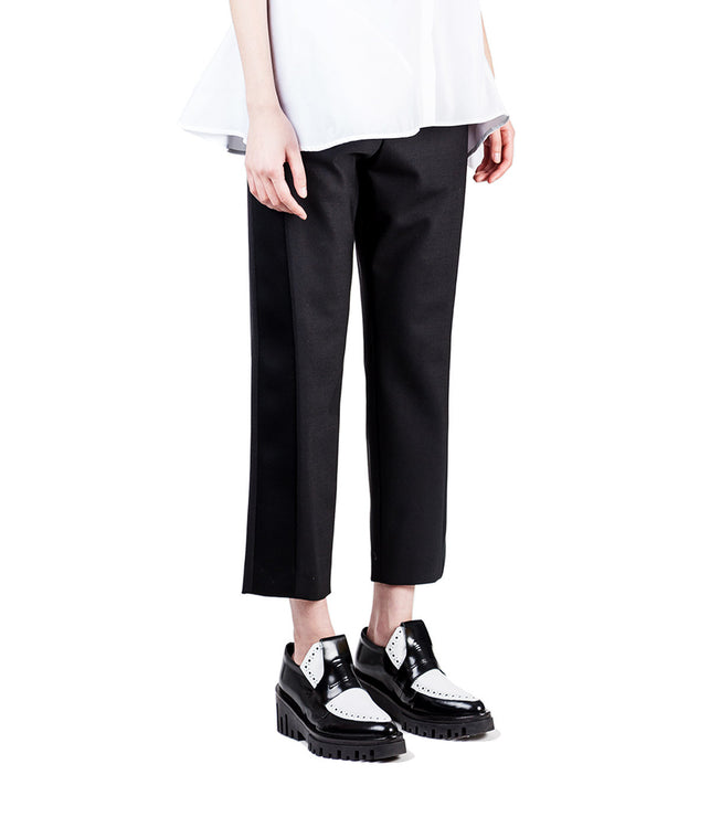 Slouch Fit Cuffed Trousers