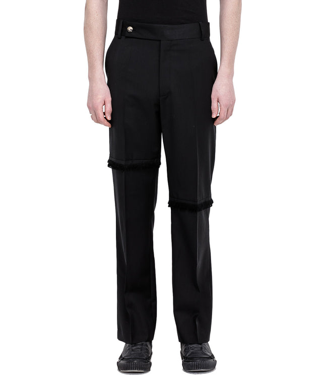 Black Fringe Trouser