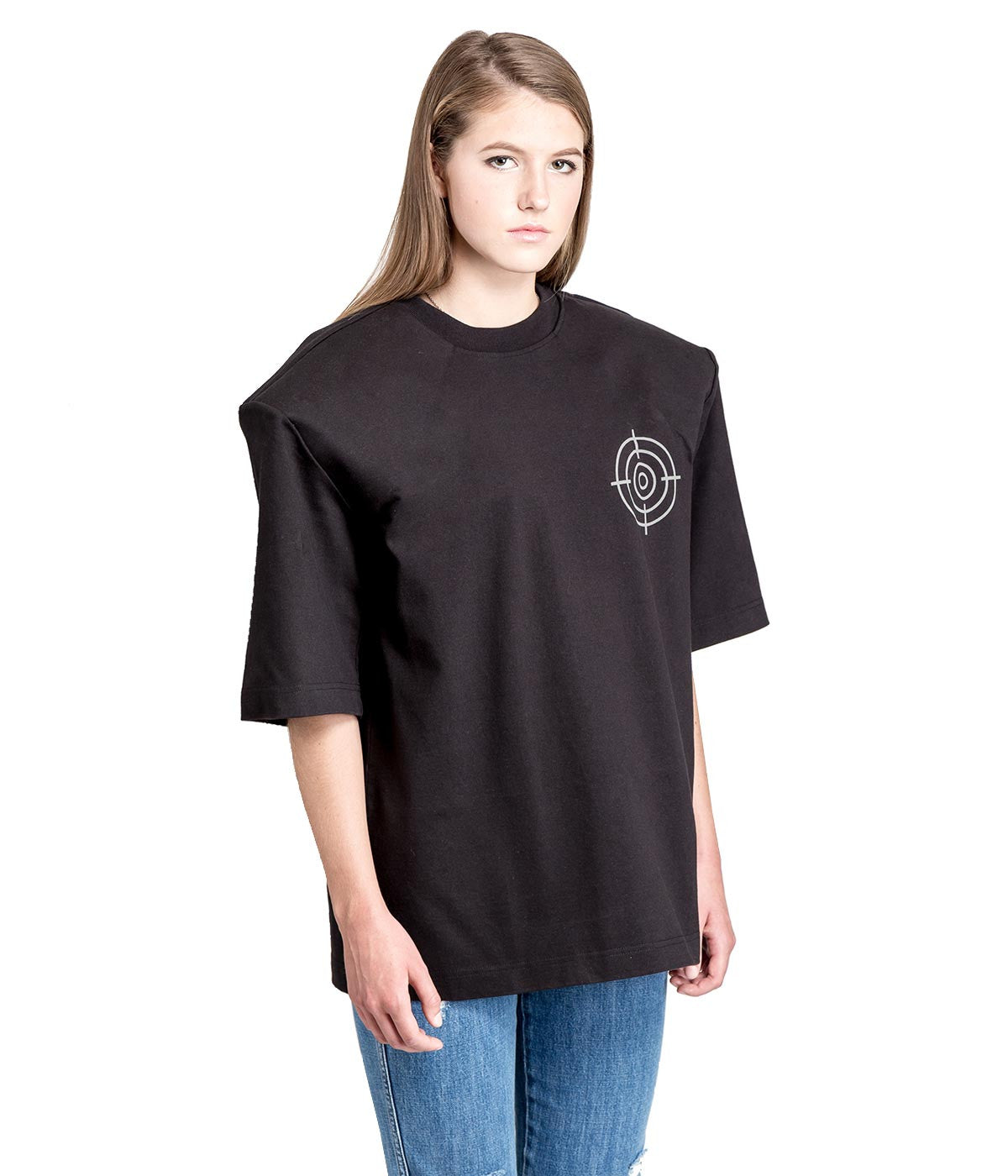 Black Gun Club Football Shoulder T-shirt
