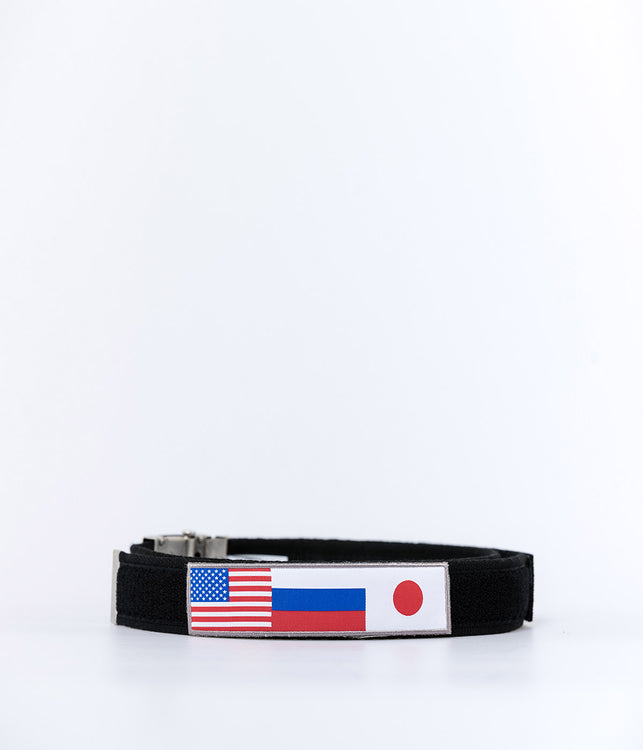 Black Velcro Tape Belt