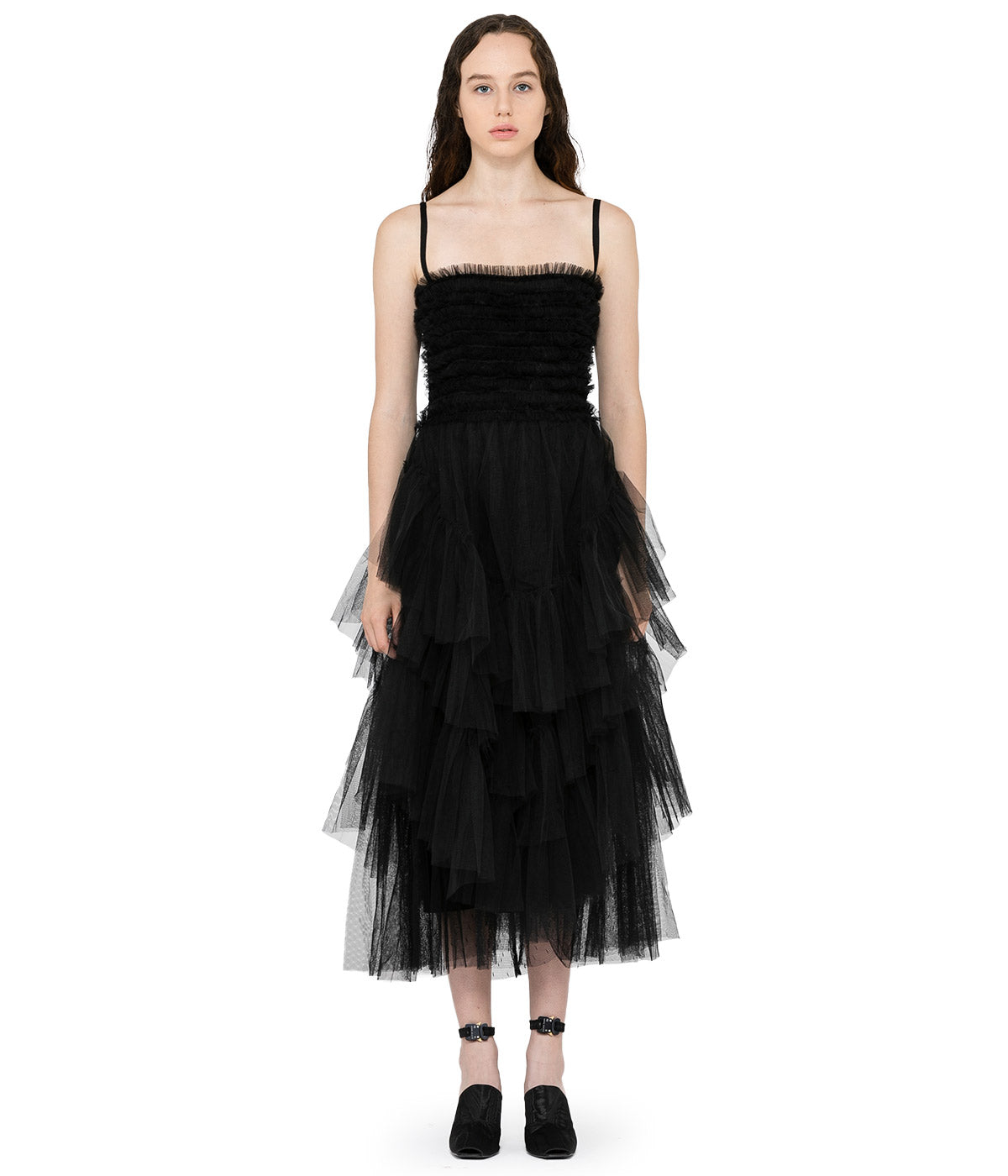 Black Layered Tulle Dress