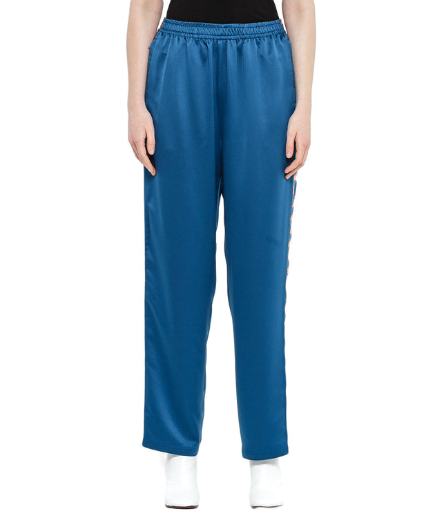 Blue Sateen Sweatpants