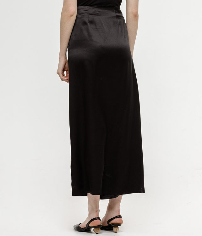 Black Asymmetrical Bonded Skirt