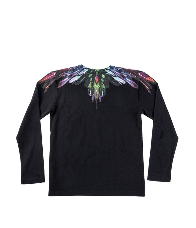 Black Feathers Print T-shirt