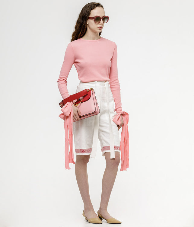 Pink Exaggerated Cuffs Top