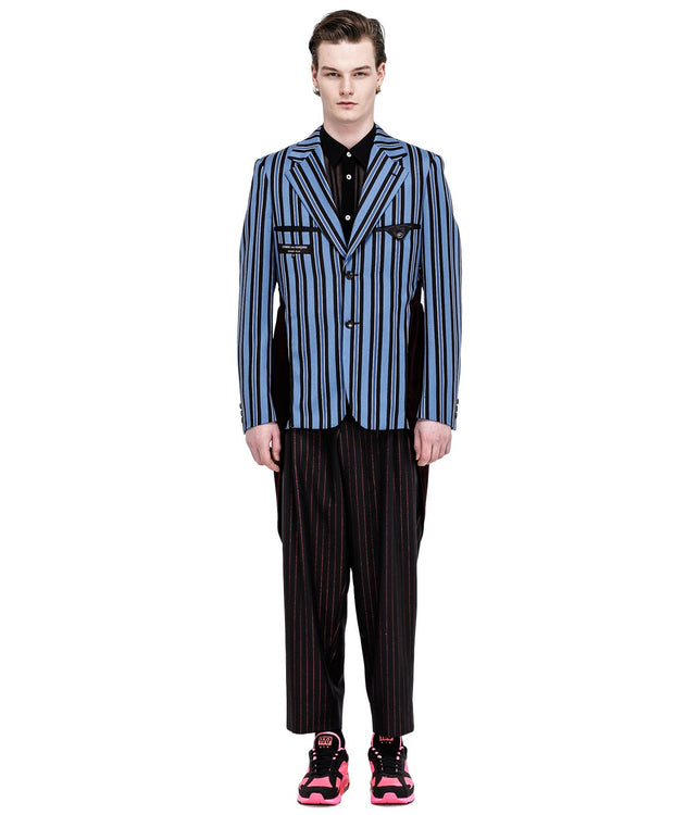 Blue Striped Tuxedo Jacket