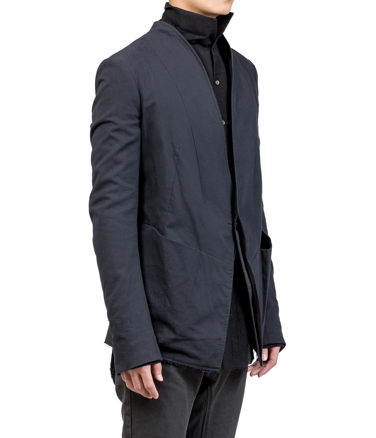 Black Shawl Collar Suit Jacket
