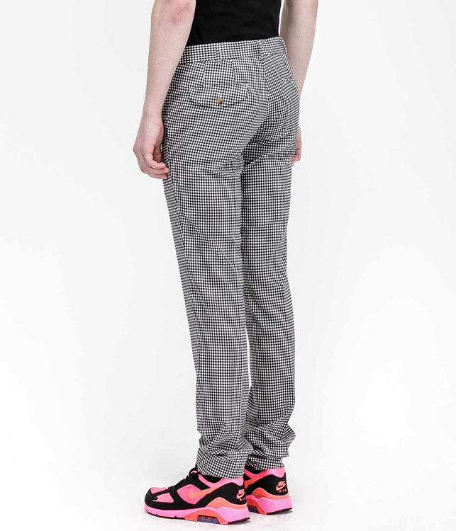 Black Gingham Check Pants
