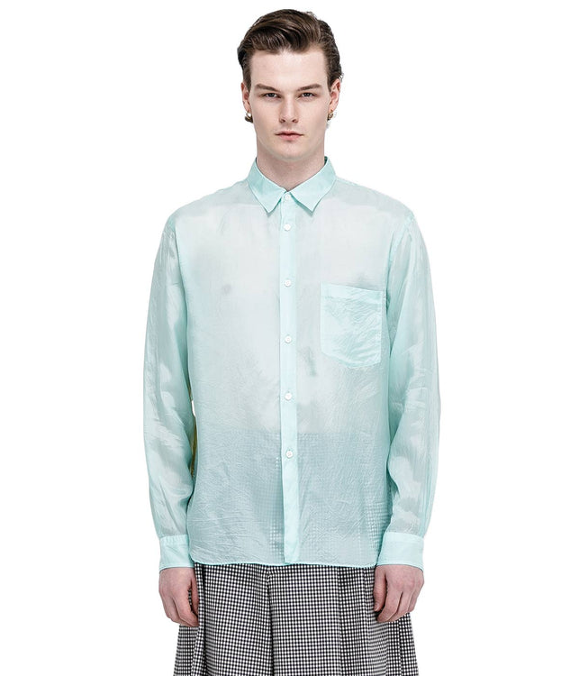 Mint Green Layered Shirt