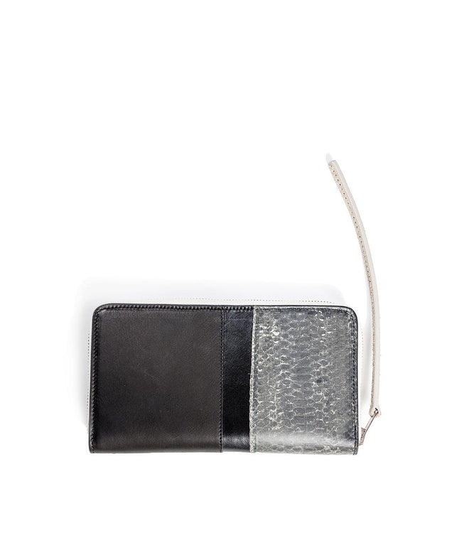 Snake & Calf Skin Leather Continental Wallet