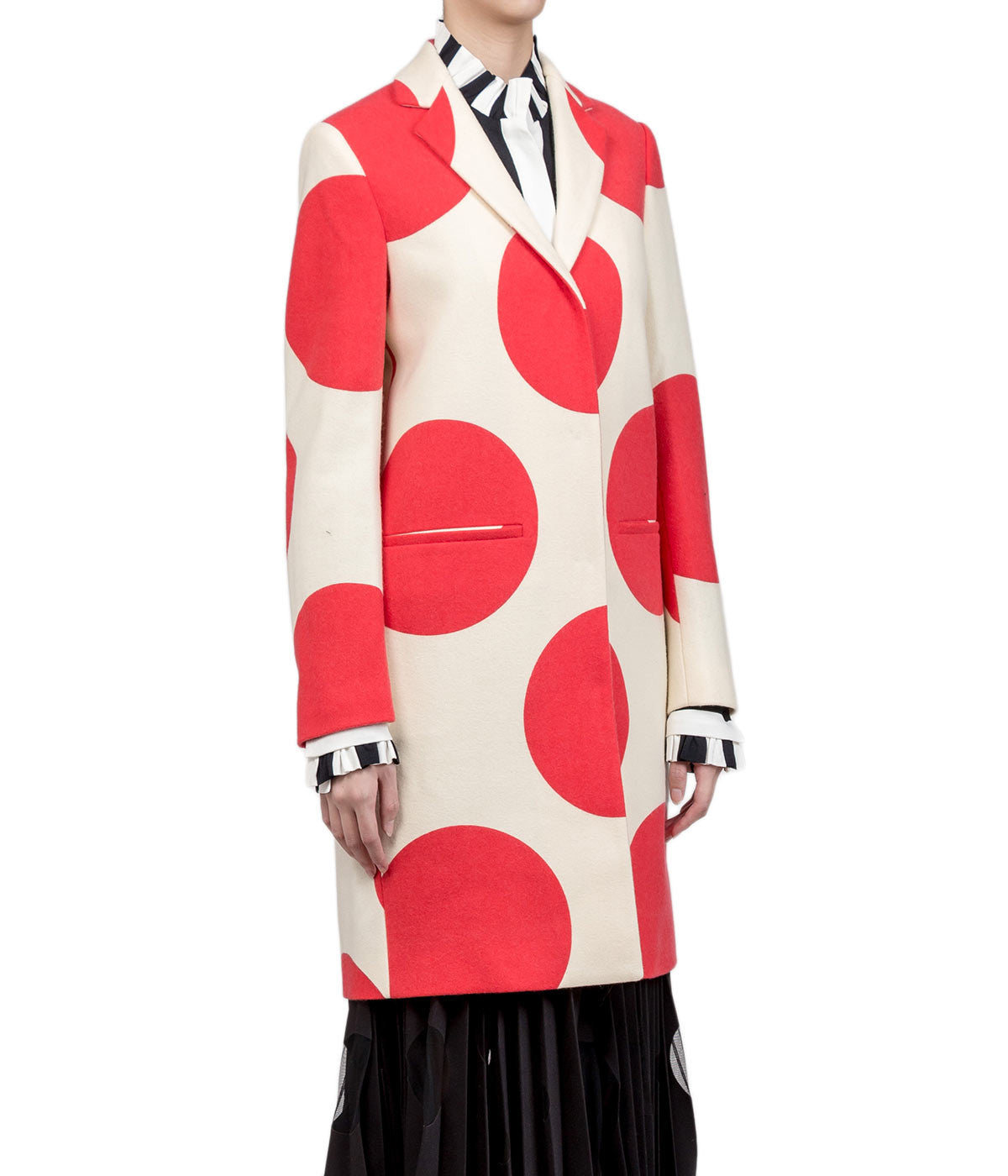 Polka Dot Slim Fit Coat
