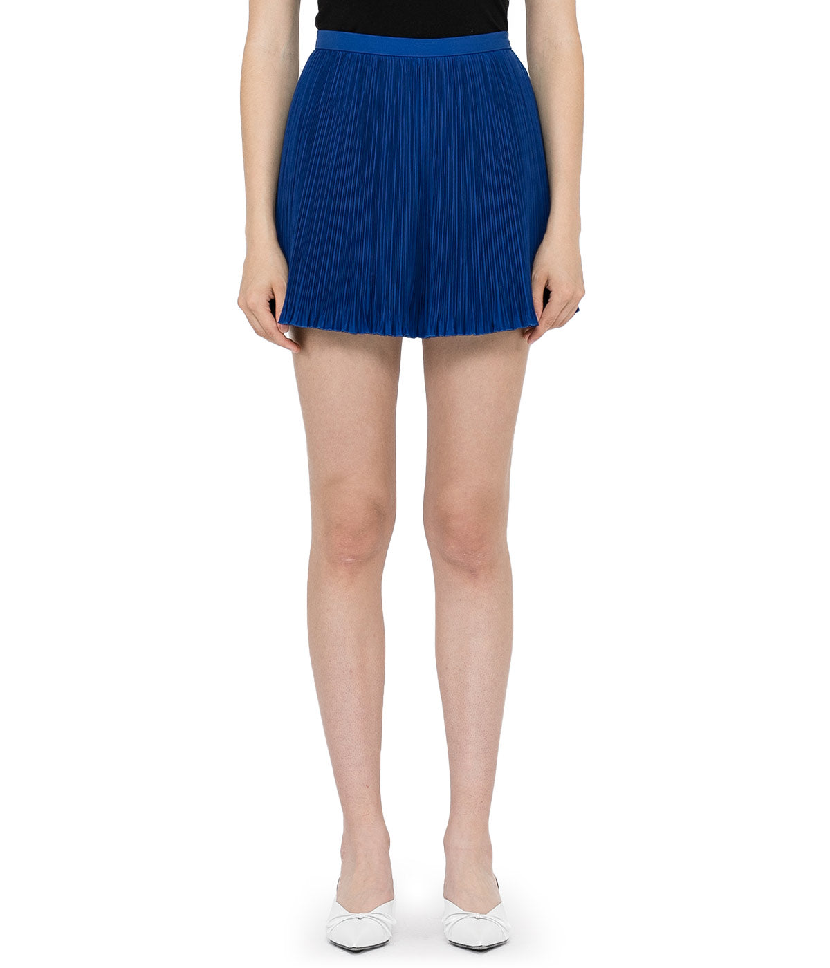 Persian Blue Pleated Shorts