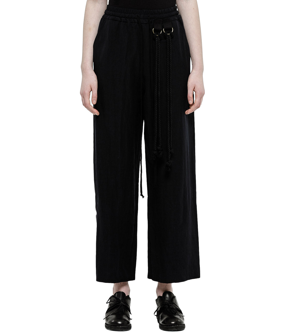 Black Straight Cut Pants