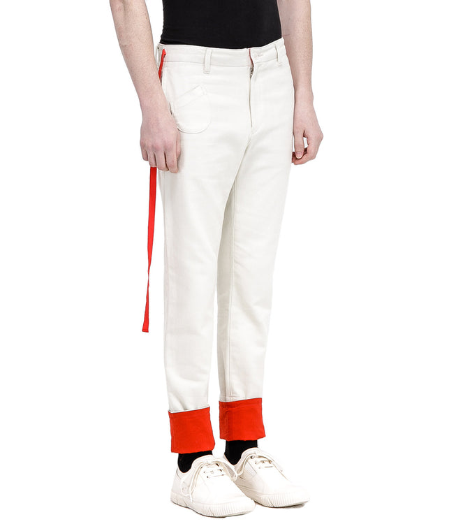 Ivory Side Tape Pants