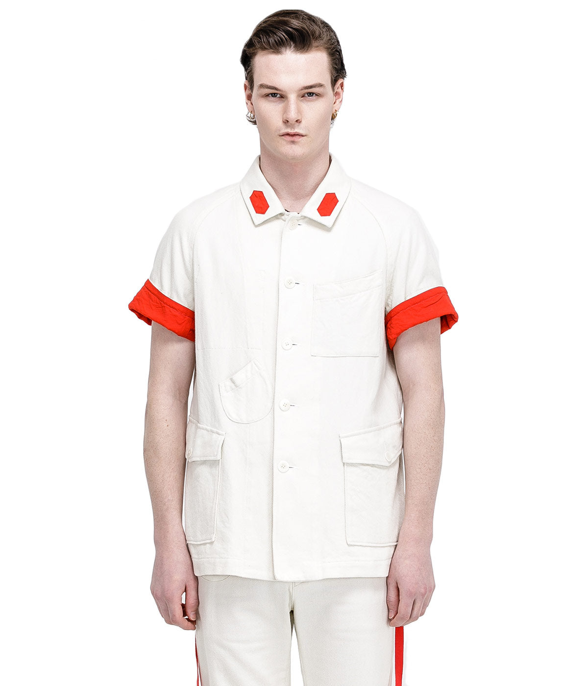 Ivory Twill Worker's Shirt