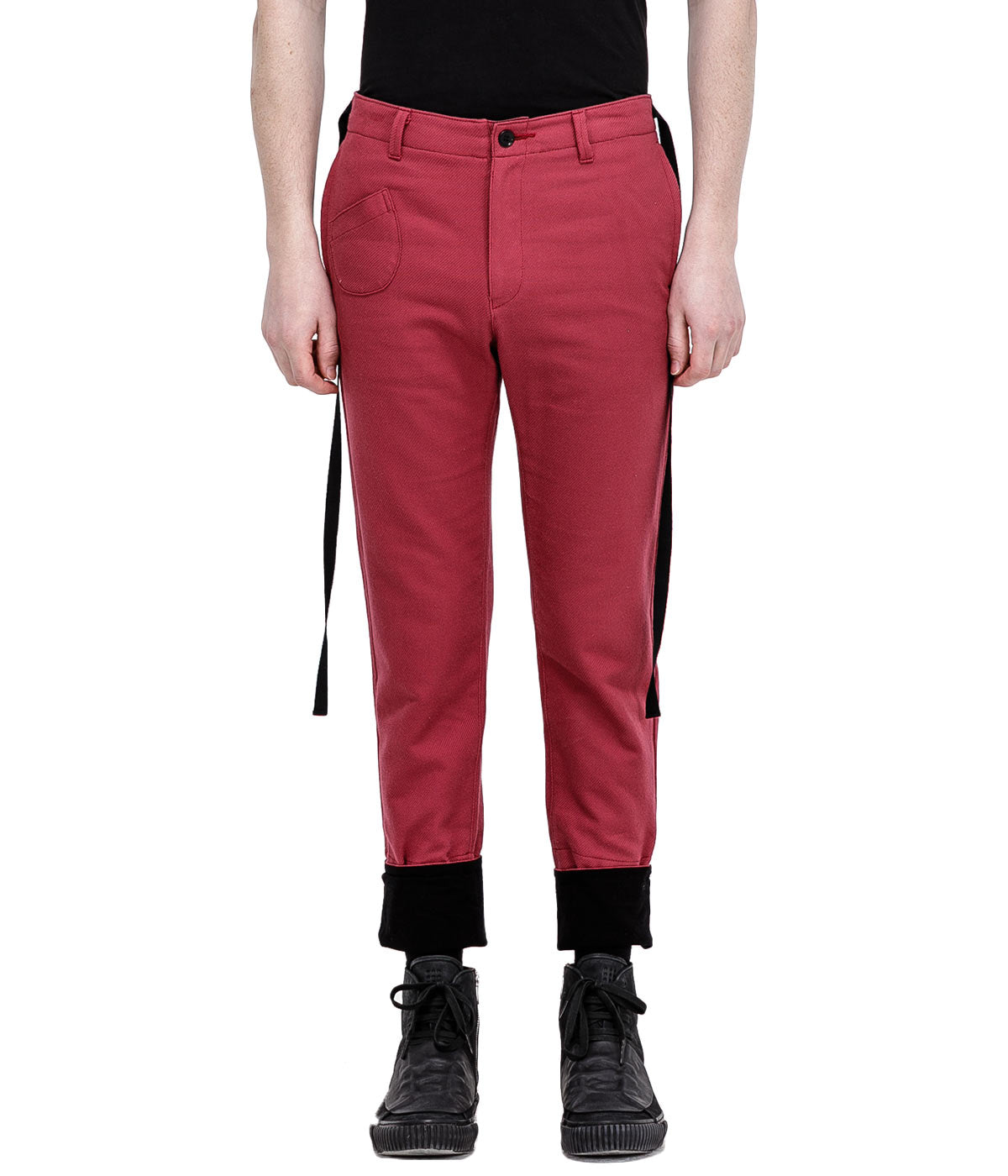 Red Side Tape Pants