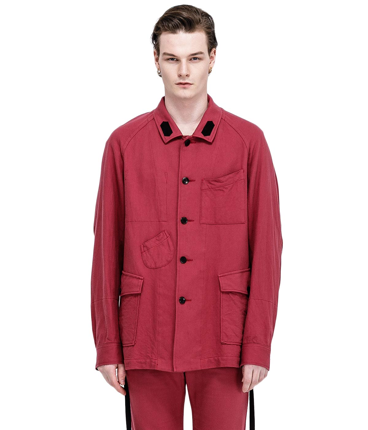 Red Twill Worker's Shirt