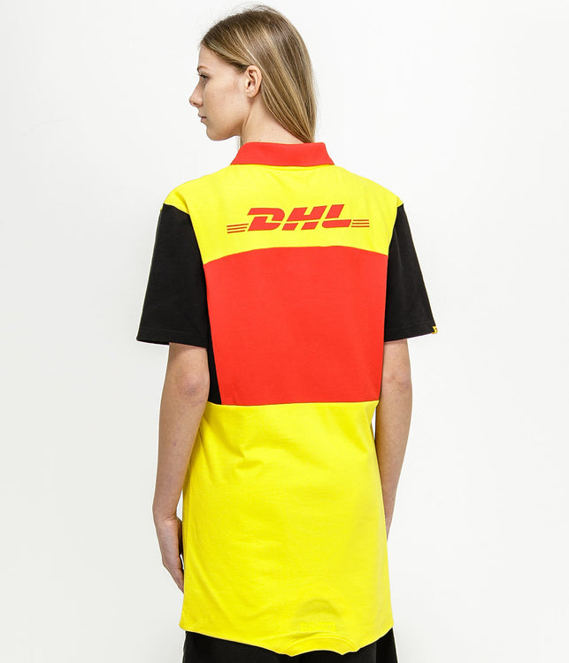 Yellow DHL Polo Dress