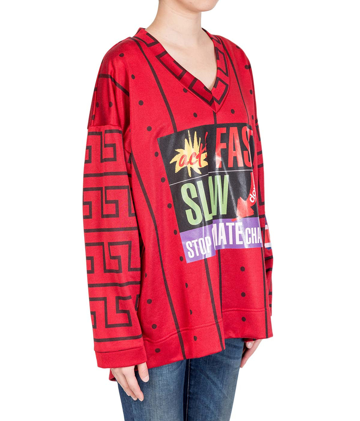 Oversized Red Act Fast Top