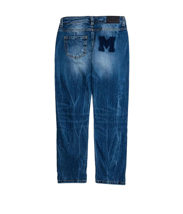 Blue Distressed Denim Jean