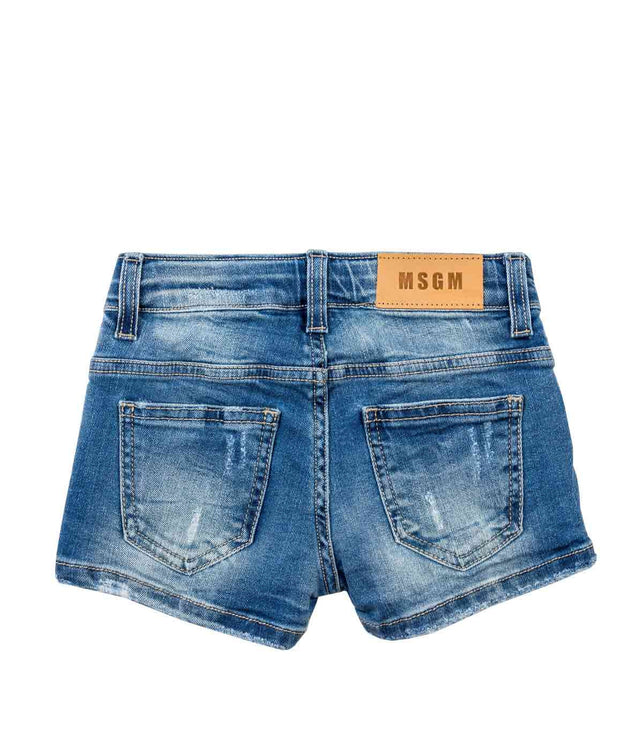 Blue Charm Denim Shorts