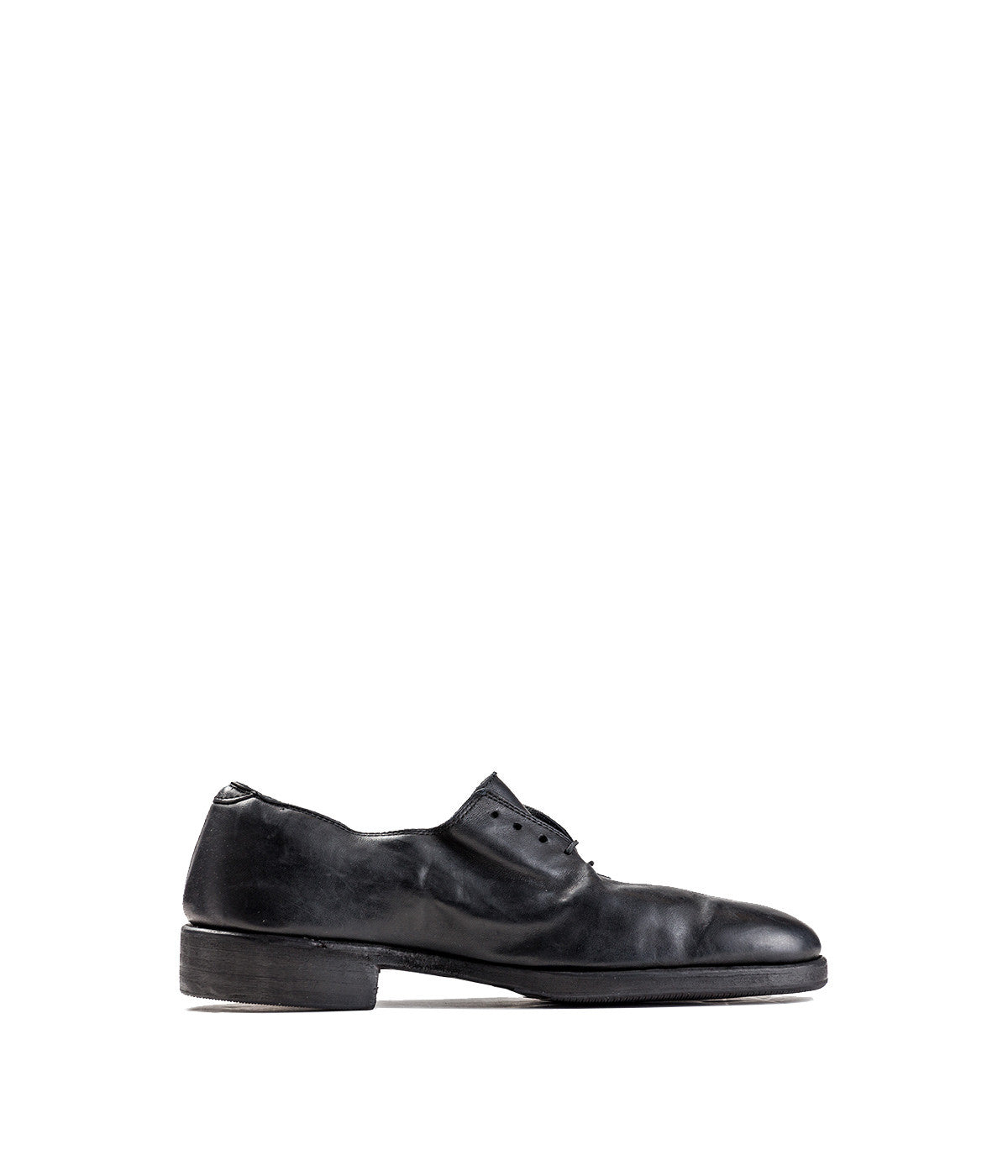 Black Almond Toe Oxford Shoe