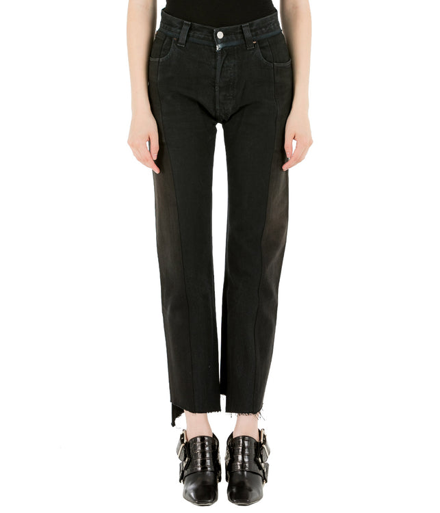 Black Reworked Push Up Denim Jeans