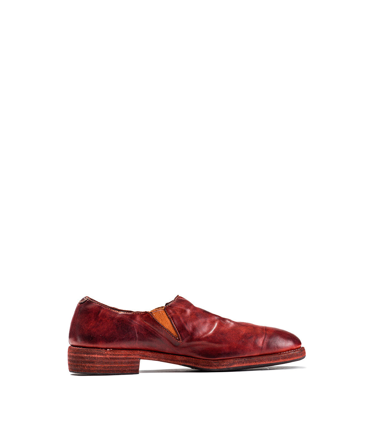 Red Almond Toe Oxford Slip-On Shoe