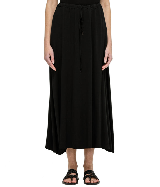 Black Swarovski Modal Skirt
