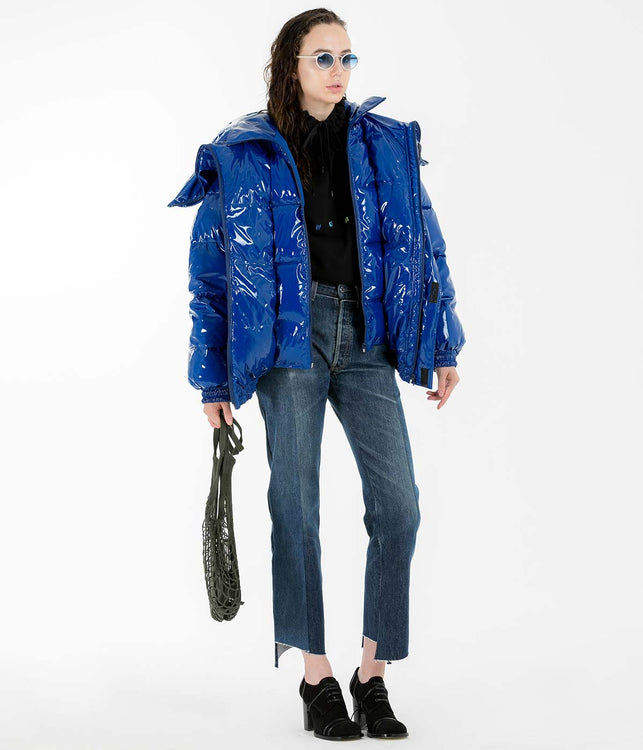 Blue Miss Webcam Puffer Jacket