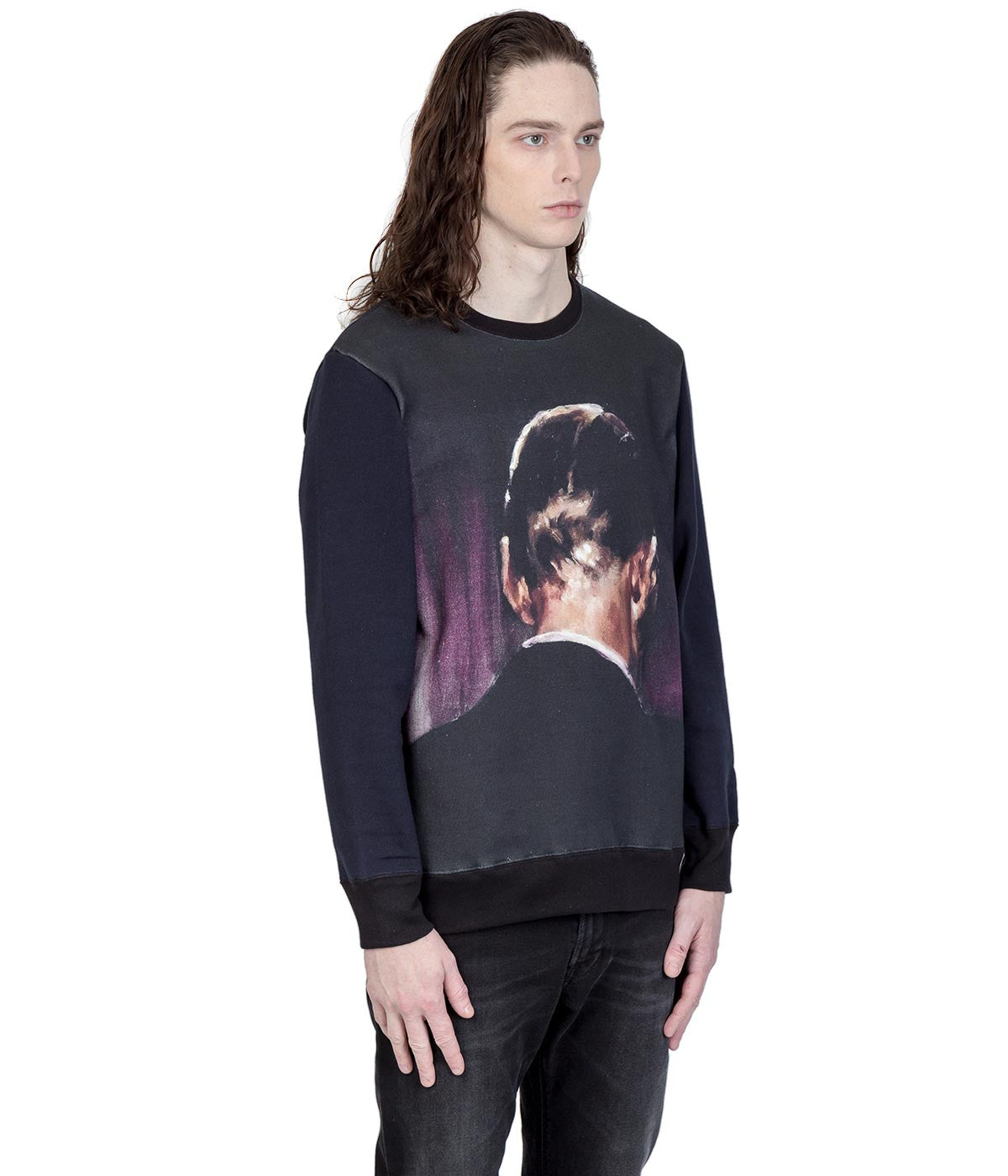 Navy Borremans Printed Sweatshirt