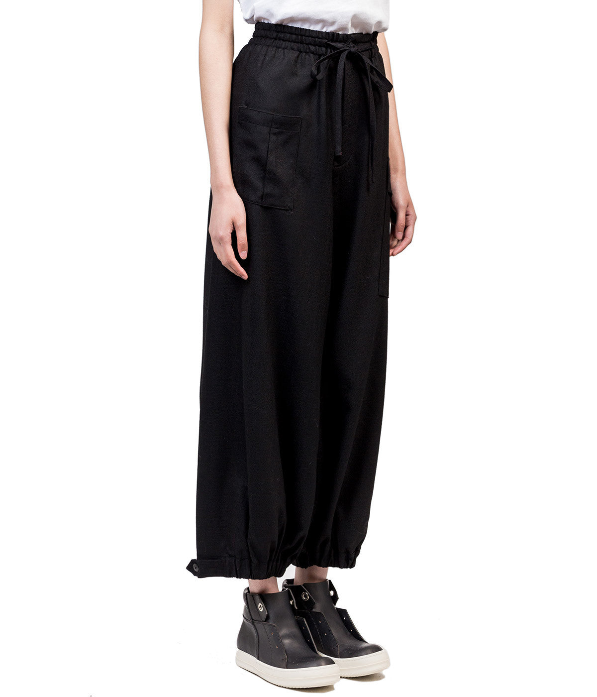 Black Insulator Wool Pants
