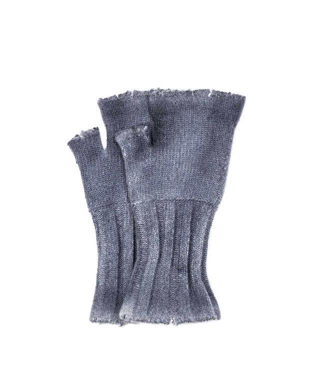 Stone Grey Fingerless Gloves