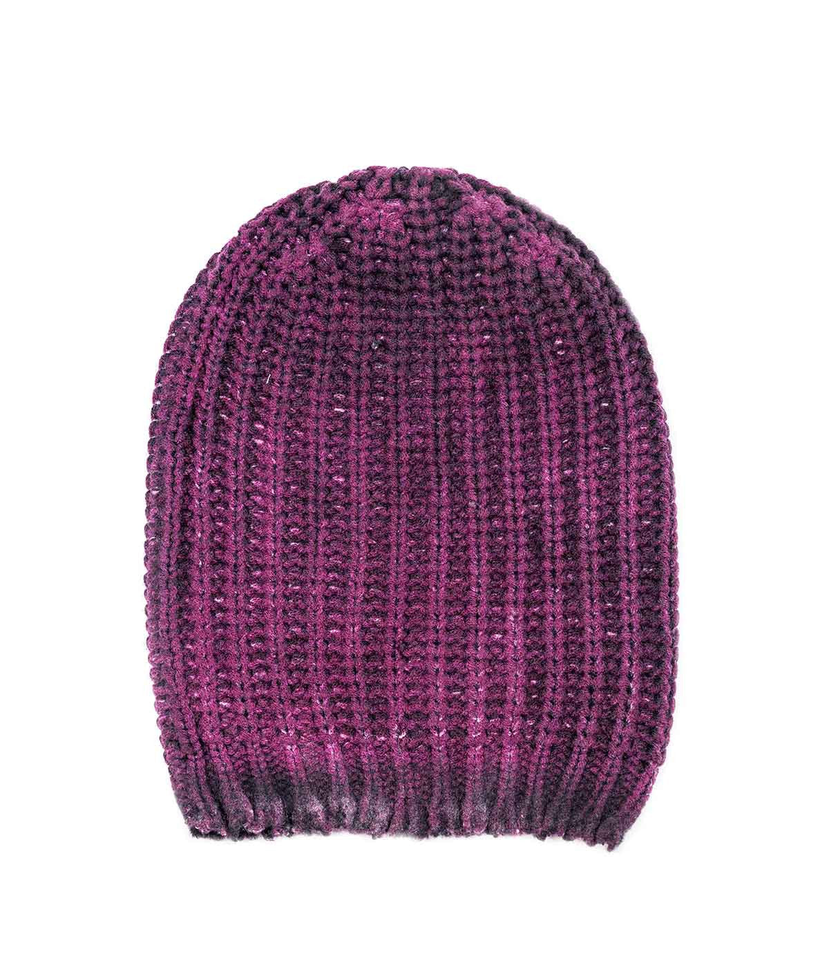 Thick Knit Purple Toque