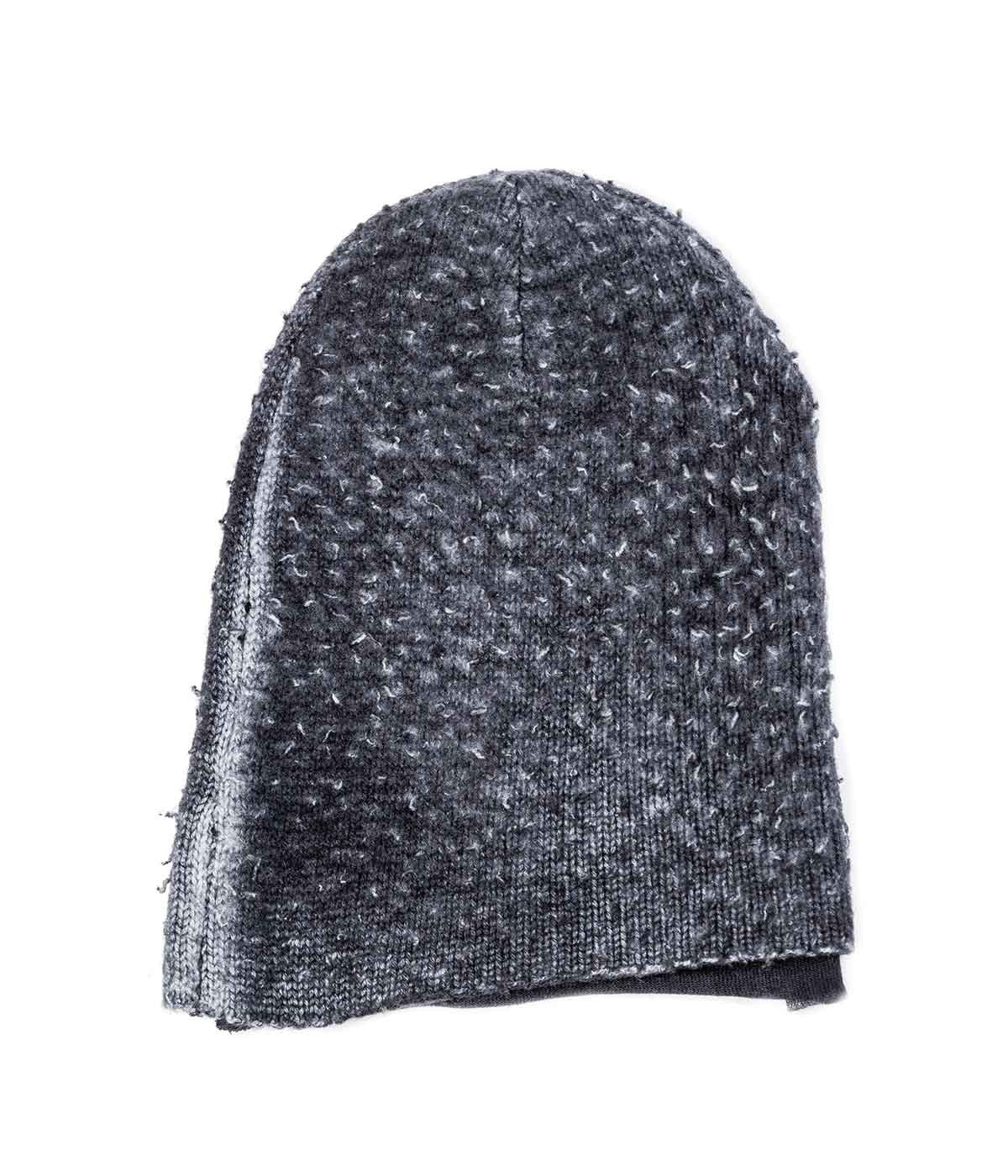 Double-Layered Textured Grey Toque