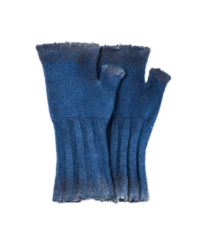 Indigo Fingerless Gloves