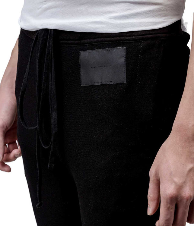 Black Twill Pleat Pants