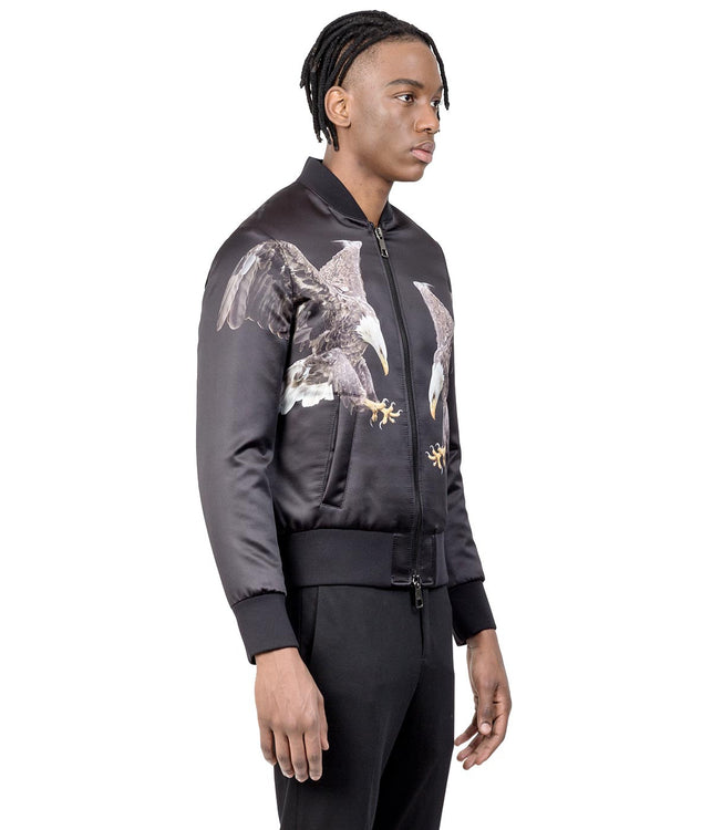 Black Reuben's Eagle Padded Bomber Jacket
