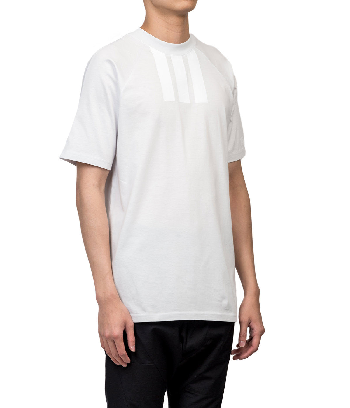 White 3S Rayglan-sleeved T-shirt