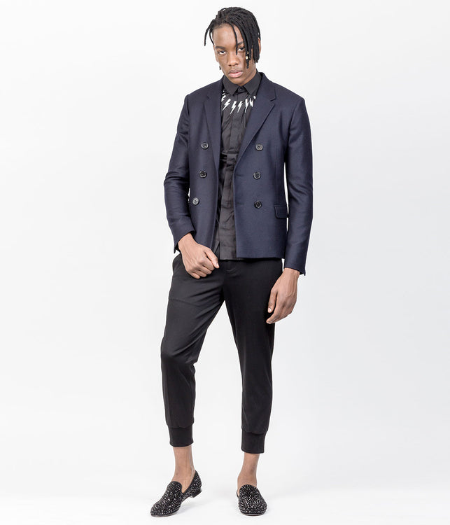 Dark Navy Double Breasted Jacket