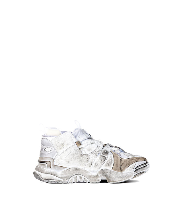 White Genetically Modified Reebok Pump Sneakers